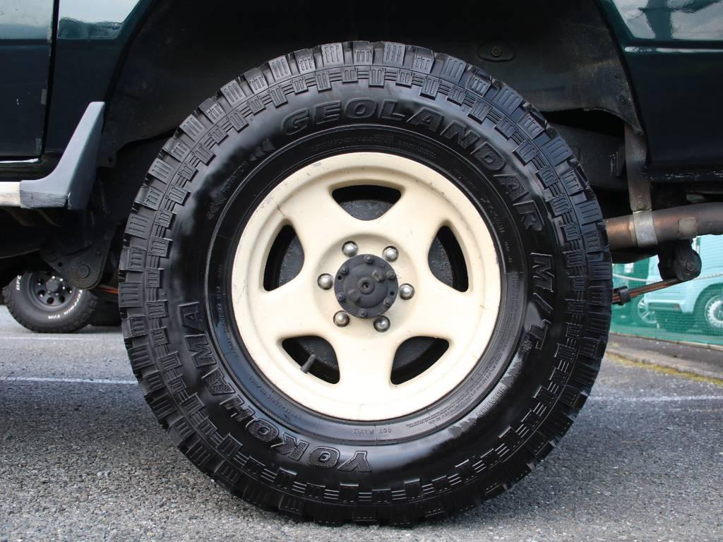 ブラッドレーV16インチ☆ジオランダー255タイヤ☆   トヨタ ランドクルーザー70 4.2 LX ディーゼル 4WD 前後デフロック MT車 クロカンバンパー