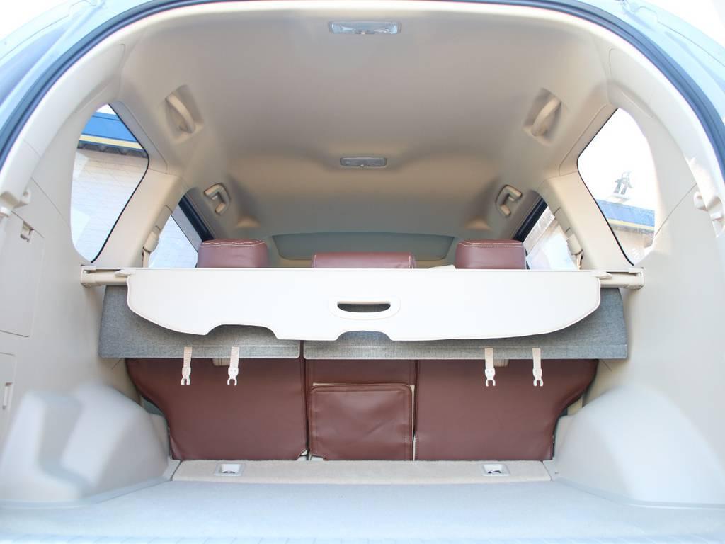 広いラゲッジスペース☆たくさんの荷物を積むことが出来ます☆   トヨタ ランドクルーザープラド 2.8 TX ディーゼルターボ 4WD 5人 新車未登録 9インチナビ