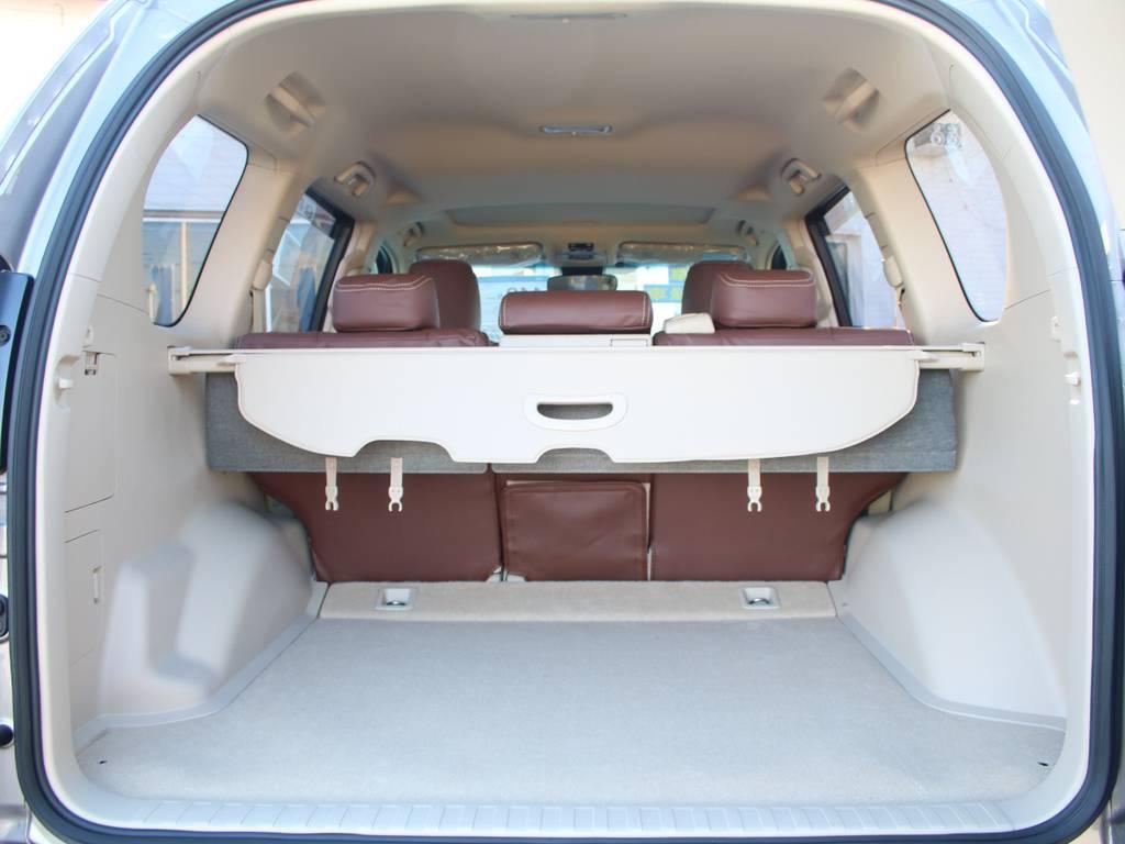 荷室は広々お使い頂けるスペースがございます☆ | トヨタ ランドクルーザープラド 2.8 TX ディーゼルターボ 4WD 5人 新車未登録 9インチナビ