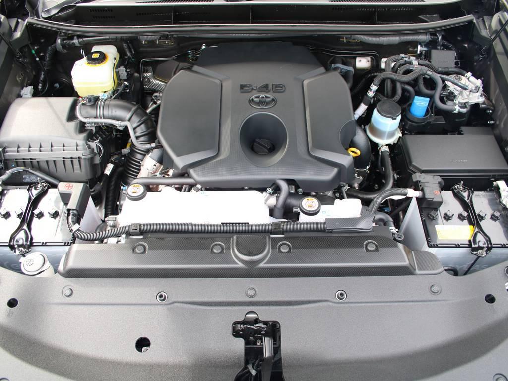 エンジンはクリーンディーゼルなので規制地域も登録可能です☆ | トヨタ ランドクルーザープラド 2.8 TX ディーゼルターボ 4WD 5人 新車未登録 9インチナビ