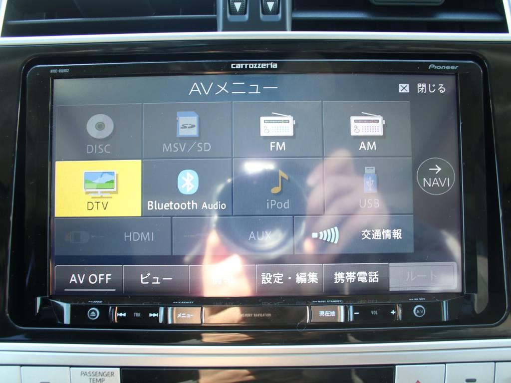 新品カロッツェリア9インチナビ☆Bluetooth対応です☆   トヨタ ランドクルーザープラド 2.8 TX ディーゼルターボ 4WD 5人