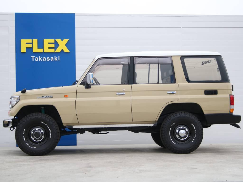 左側面もキレイに保たれております☆   トヨタ ランドクルーザープラド 3.0 EXワイド ディーゼルターボ 4WD