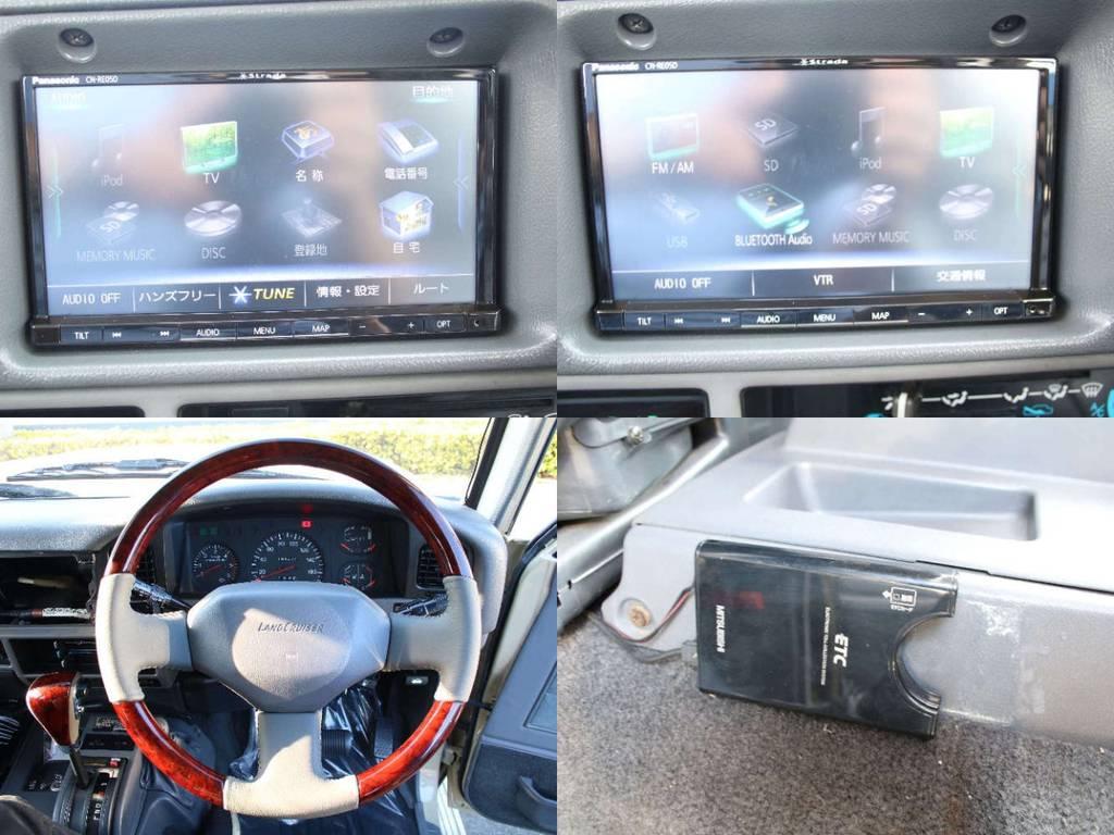 新品ストラーダナビ☆ETC☆新品ウッドコンビステアリング   トヨタ ランドクルーザープラド 3.0 EXワイド ディーゼルターボ 4WD