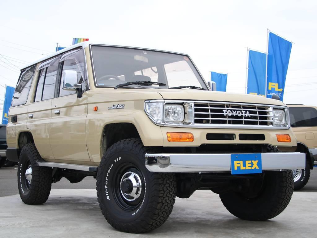 NEWペイントベージュ☆LC78プラド新入庫です☆   トヨタ ランドクルーザープラド 3.0 EXワイド ディーゼルターボ 4WD