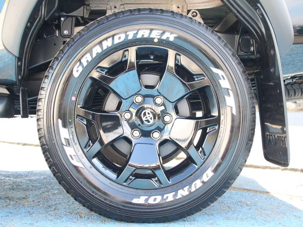専用18インチAW☆専用DUNLOPホワイトレタータイヤ☆ | トヨタ ハイラックス 2.4 Z ブラック ラリー エディション ディーゼルターボ 4WD