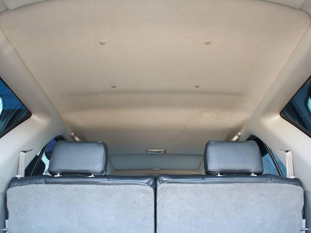 天張りもキレイに保たれております☆ | トヨタ ハイラックスサーフ 2.7 SSR-X 4WD 背面レス リフトアップ MGホイール