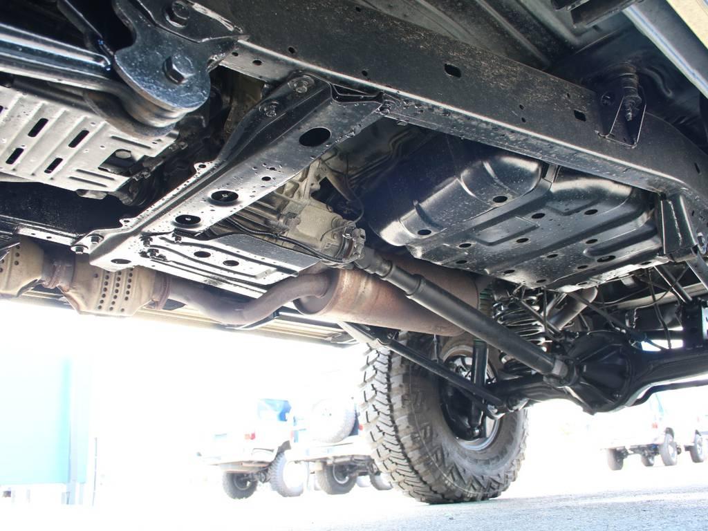 下回りは高圧洗浄後防錆パスターにてキレイに仕上げてあります☆ | トヨタ ランドクルーザー80 4.5 VXリミテッド 4WD