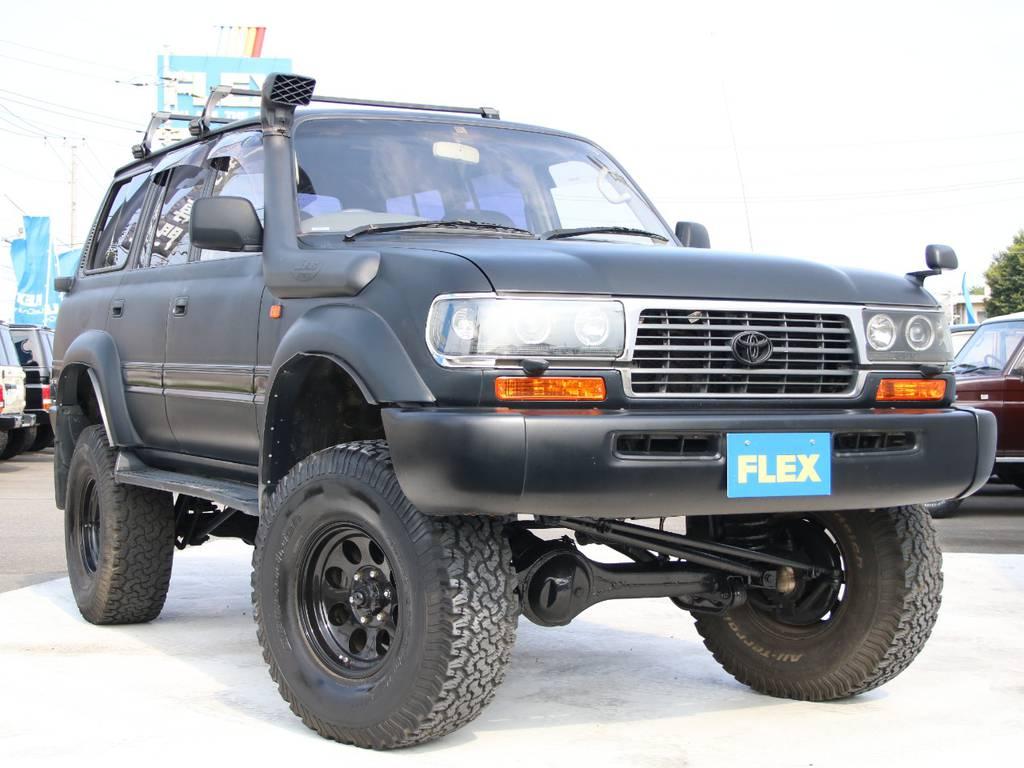 大迫力のLC80、新入庫です☆ | トヨタ ランドクルーザー80 4.5 VXリミテッド 4WD
