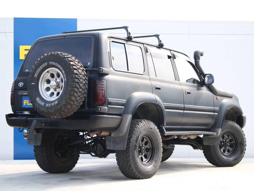 迫力のリアビュー☆背面タイヤも付いております☆ | トヨタ ランドクルーザー80 4.5 VXリミテッド 4WD