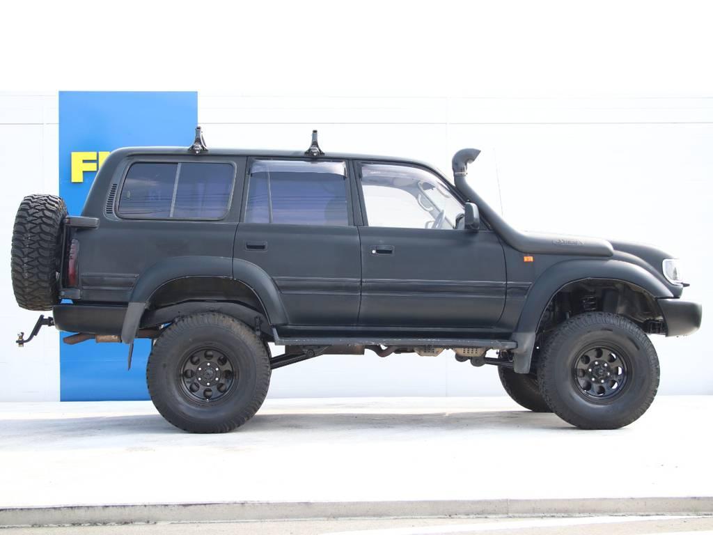 右側面もキレイに保たれております☆サファリシュノーケル☆ | トヨタ ランドクルーザー80 4.5 VXリミテッド 4WD