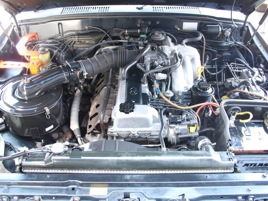エンジンも快調☆キレイに保たれております☆ | トヨタ ランドクルーザー80 4.5 VXリミテッド 4WD
