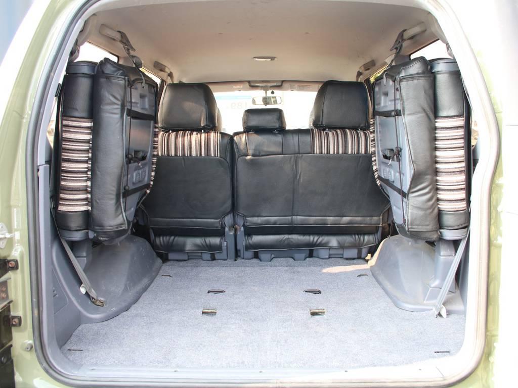 荷室は広々お使い頂けるスペースがございます☆ | トヨタ ランドクルーザープラド 2.7 TX リミテッド 4WD 後期型 イモビ付きモデル