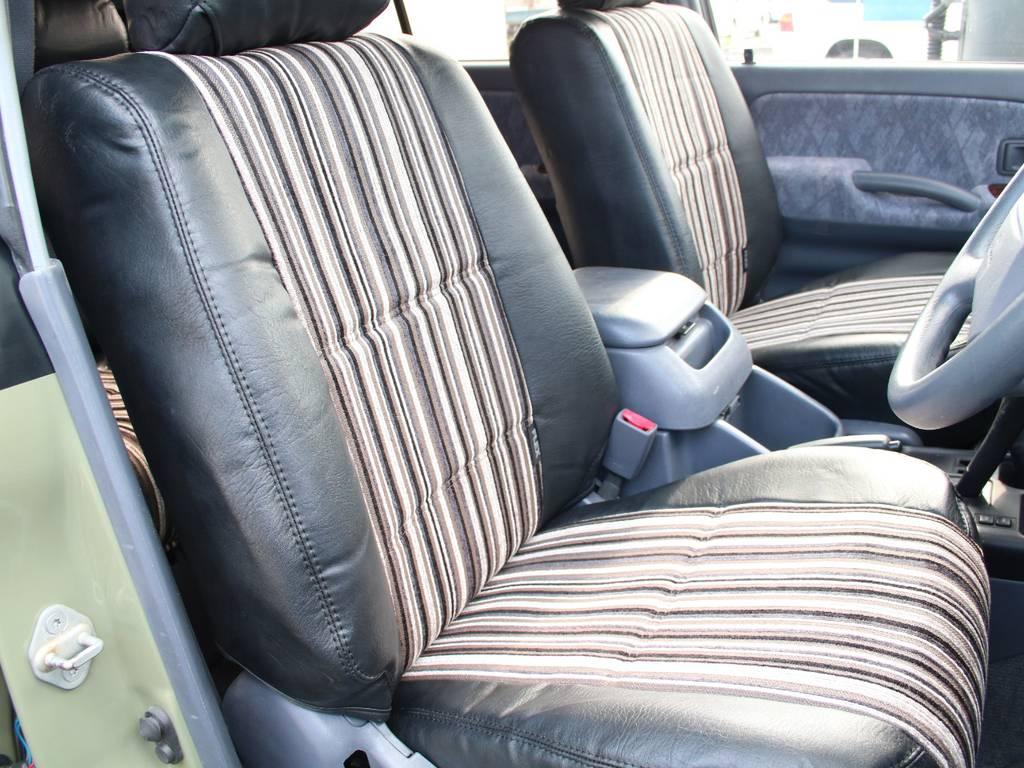 お洒落なシートカバーを取り付け致しました☆ | トヨタ ランドクルーザープラド 2.7 TX リミテッド 4WD 後期型 イモビ付きモデル