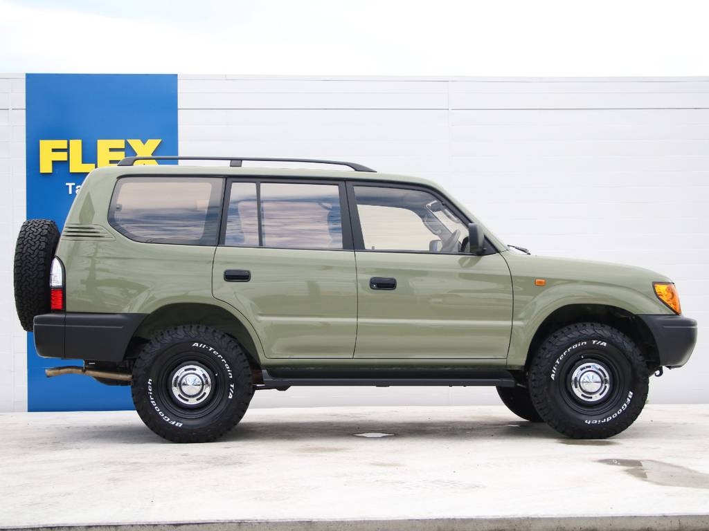 右側面もキレイに保たれております☆ | トヨタ ランドクルーザープラド 2.7 TX リミテッド 4WD 後期型 イモビ付きモデル