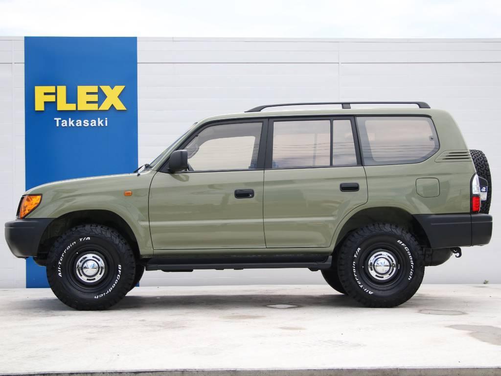 左側面もキレイに保たれております☆ | トヨタ ランドクルーザープラド 2.7 TX リミテッド 4WD 後期型 イモビ付きモデル