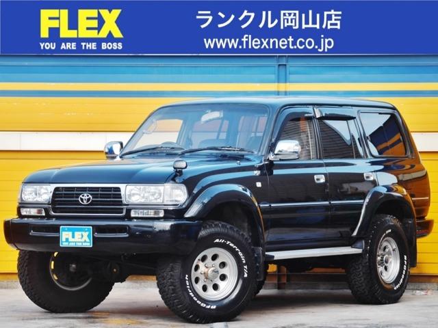 ランドクルーザー804.5 VXリミテッド 4WD ランクル80!VX-LTD!4500G!オールペイントブラック!3インチリフトアップ!社外アルミ&マッドタイヤ! AT車!低走行車!