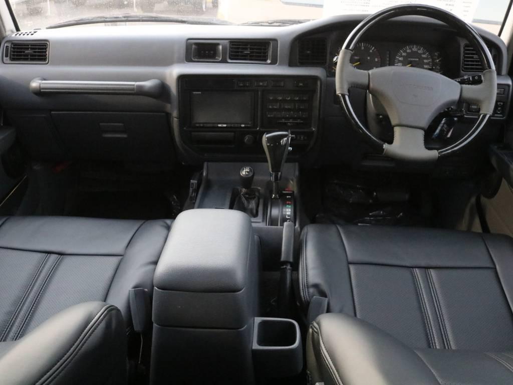広々とした内装で御座います♪ | トヨタ ランドクルーザー80 4.2 VXリミテッド ディーゼルターボ 4WD
