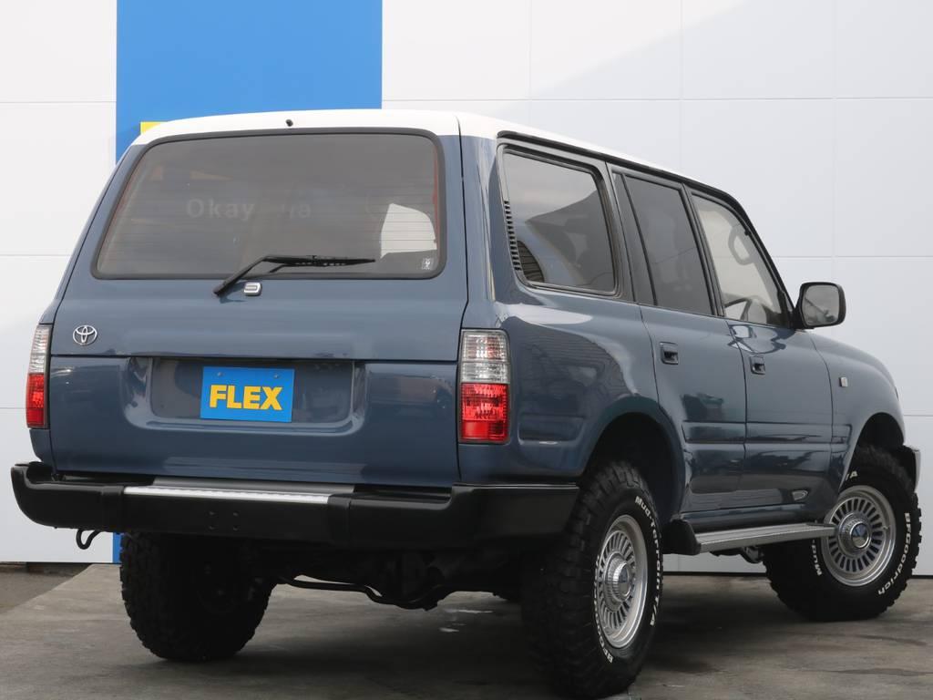 人気のアルルブルーに全塗装しております!   トヨタ ランドクルーザー80 4.2 VXリミテッド ディーゼル 4WD