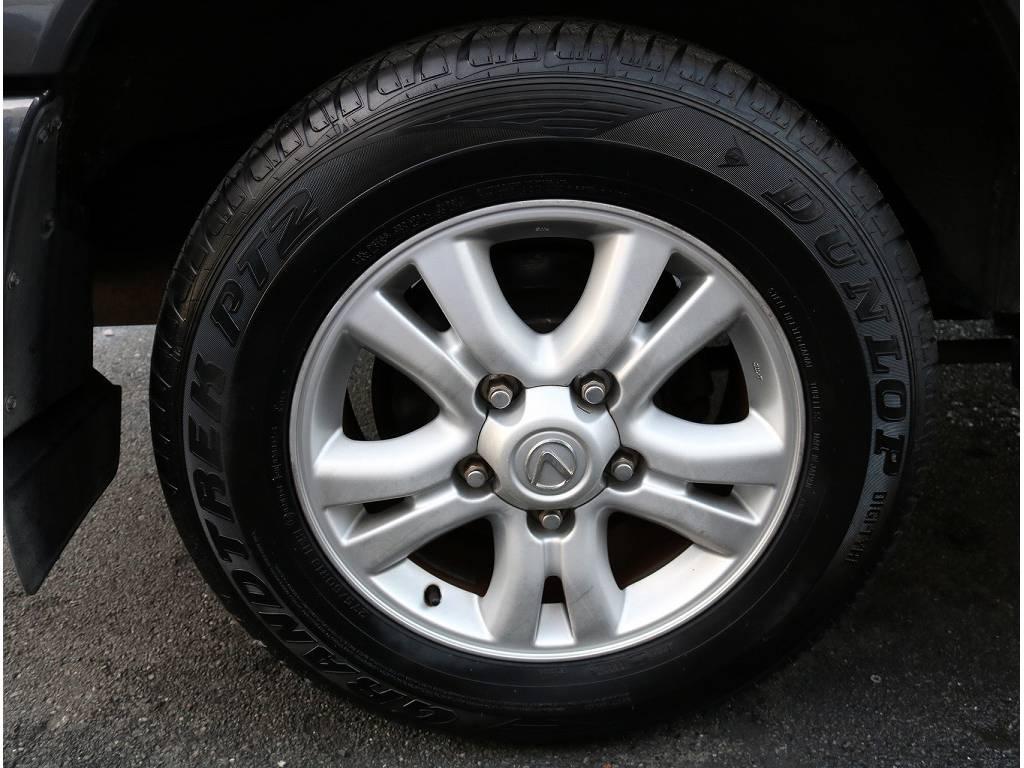 もちろんお好みで社外アルミホイール等のカスタムも可能です♪ | トヨタ ランドクルーザーシグナス 4.7 4WD
