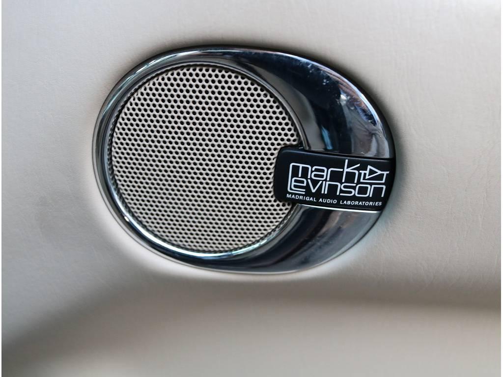 純正マークレビンソン装備されていますのでお好きな音楽を存分に楽しみながらドライブにけちゃいます!!