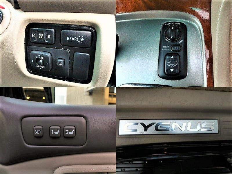ハイトコントロール、メモリーシート高級車に必要な装備も完璧です!