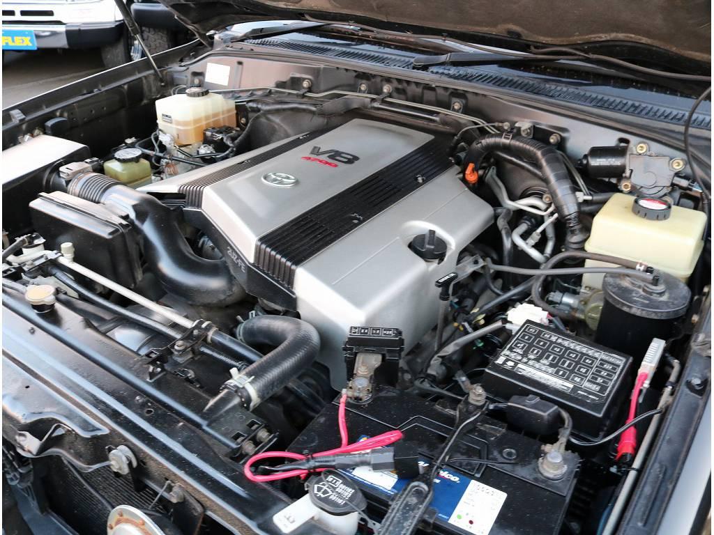 V8 4.7Lガソリンエンジンです。様々な場面に適応出来る心強い友になってくれます(^^)/ | トヨタ ランドクルーザーシグナス 4.7 4WD