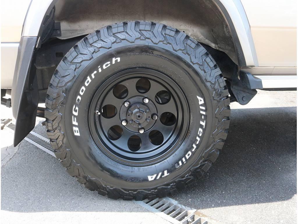 新品BFG A/Tタイヤ&ジムラインアルミホイールです♪ | トヨタ ランドクルーザー70 4.0 4WD