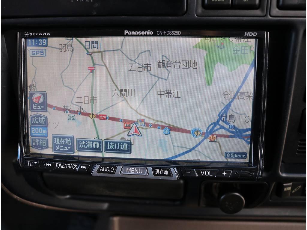 社外HDD付きですので、遠方に行った際に活躍しますね! | トヨタ ランドクルーザー80 4.2 VXリミテッド ディーゼルターボ 4WD