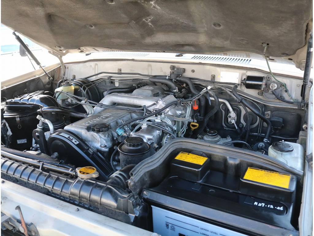 24バルブ後期型エンジンです!力強い走りと耐久性を兼ね揃えてます! | トヨタ ランドクルーザー80 4.2 VXリミテッド ディーゼルターボ 4WD