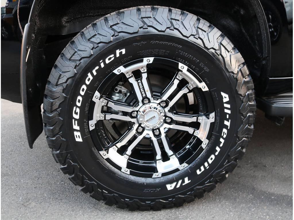 新品RAYSデイトナFDX17インチ、新品BFグッドリッチKO2オールテレンタイヤがついております!! | トヨタ ランドクルーザープラド 2.8 TX ディーゼルターボ 4WD