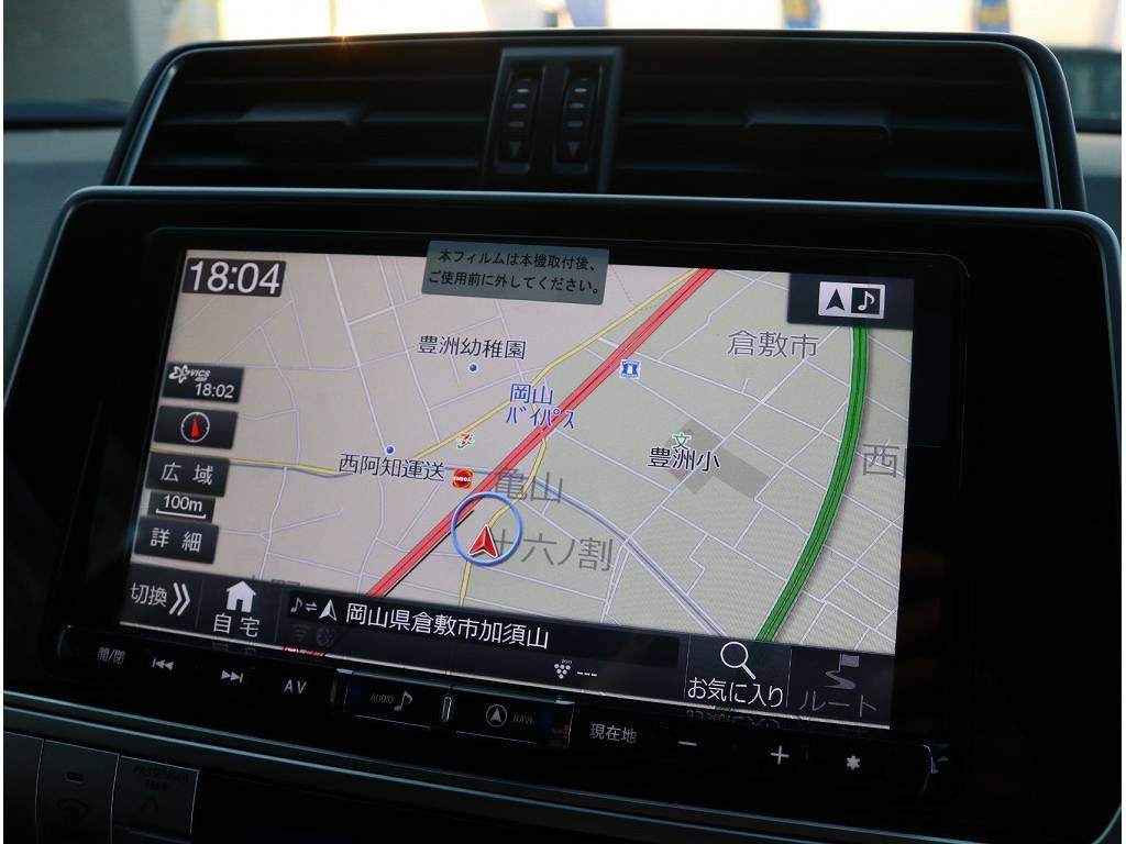 新品BIGX9インチフルセグ地デジ対応ナビがついております!! | トヨタ ランドクルーザープラド 2.8 TX ディーゼルターボ 4WD