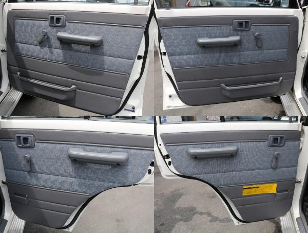 劣化が見て取れやすいドア内張ですが、良好な状態です! | トヨタ ランドクルーザー70 4.2 LX ディーゼル 4WD