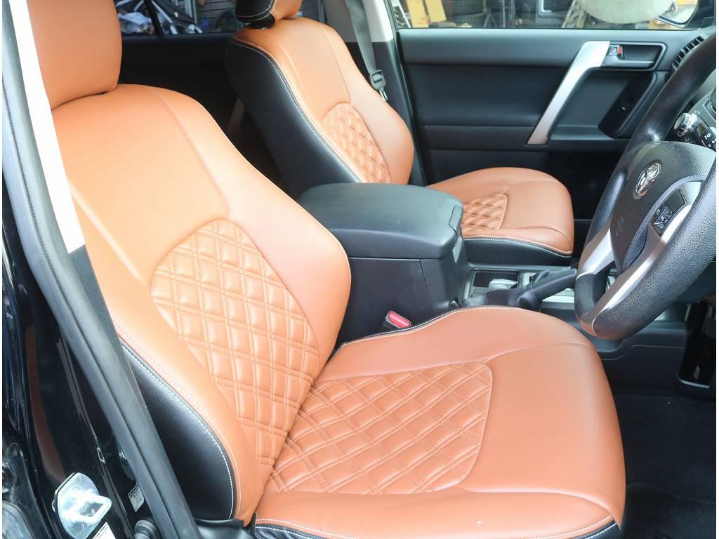 シートカバーがついております!! | トヨタ ランドクルーザープラド 2.7 TX 4WD
