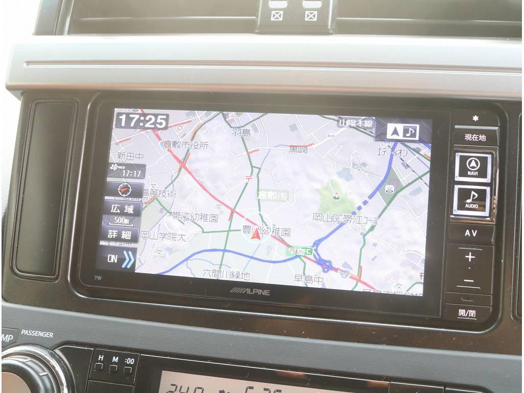 ALPINEフルセグナビがついております!! | トヨタ ランドクルーザープラド 2.7 TX 4WD