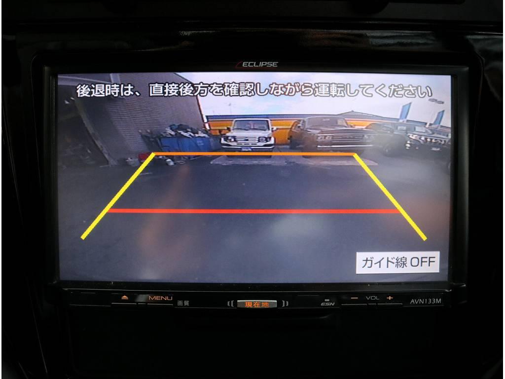 バックカメラも完備!!女の人でもラクラク駐車!でも目視で確認重要です(^o^)