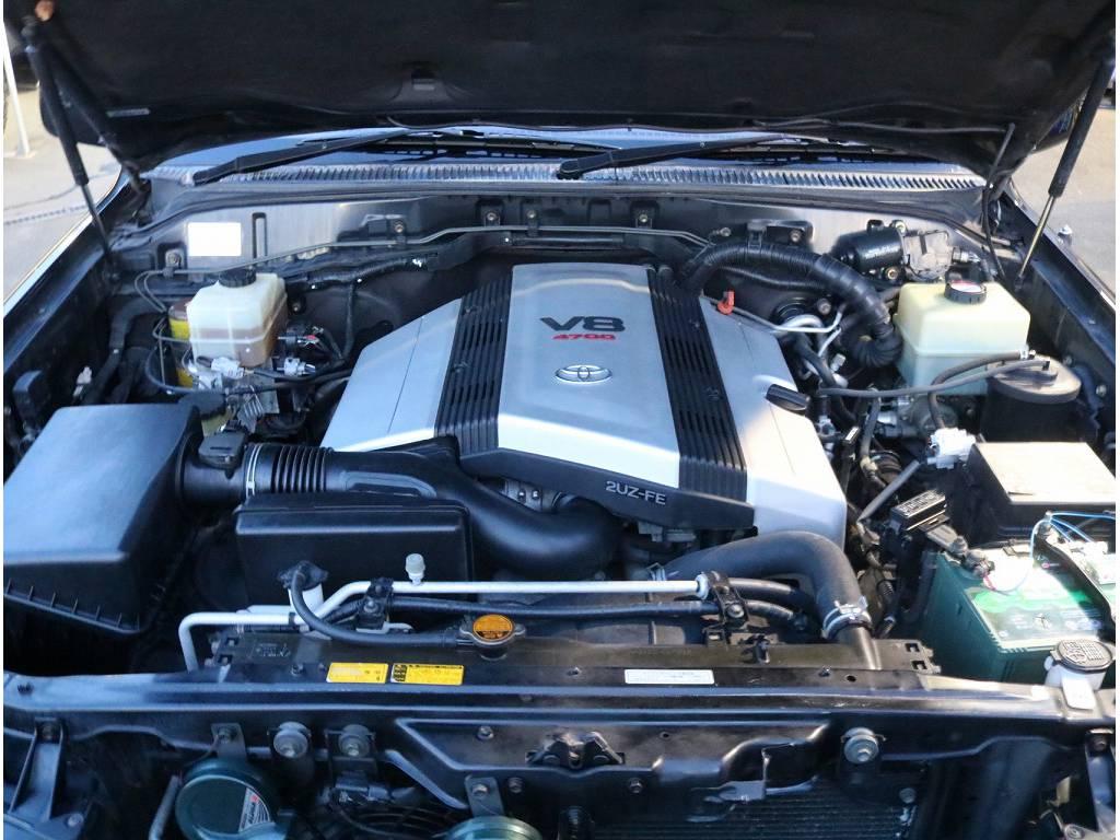 4.0LV6ガソリンエンジン、耐久性に優れ末永くお乗り頂く事が可能です♪ | トヨタ ランドクルーザーシグナス