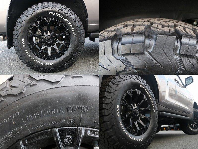 新品クリムソンモンスターアルミホイール&新品BFGATタイヤを装着済です。