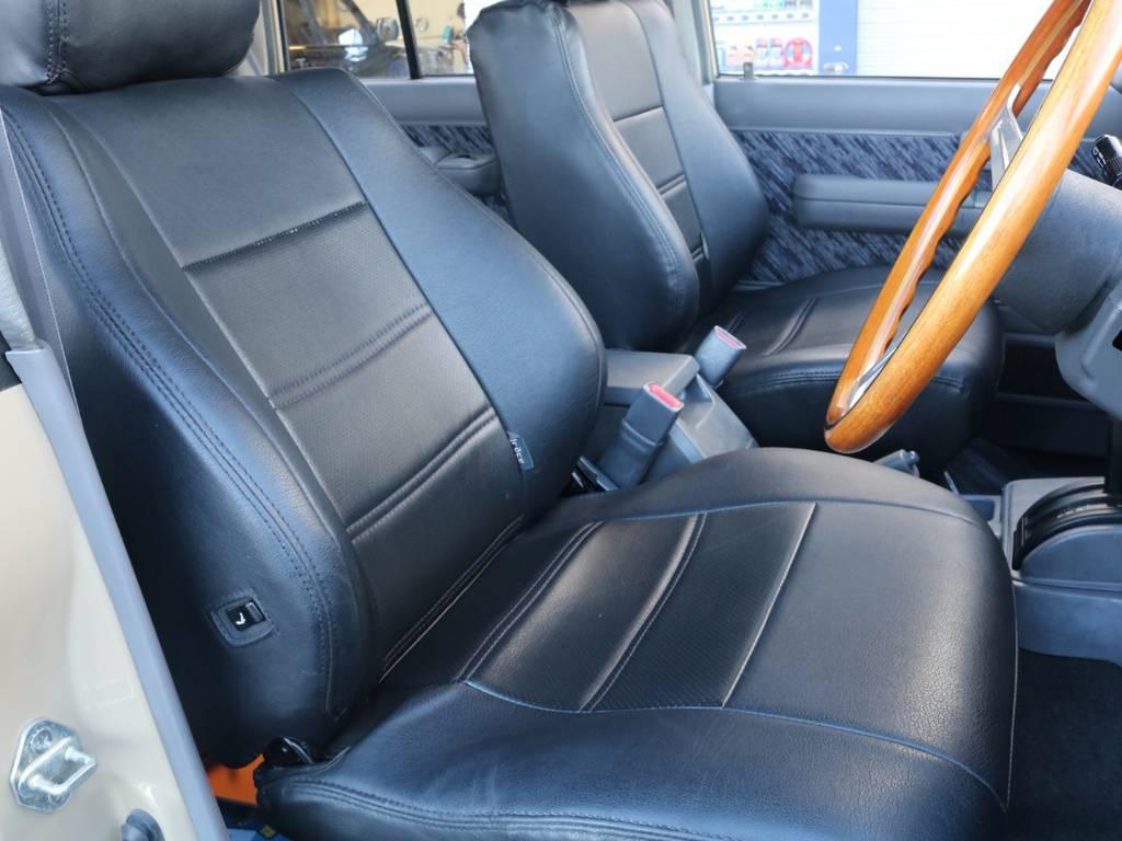 乗車位置が高く非常に運転の行い易い運転席&助手席です!