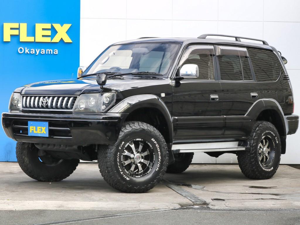 オールペイント×ブラック 95プラド リフトUP MKW16インチアルミホイール BFGタイヤ