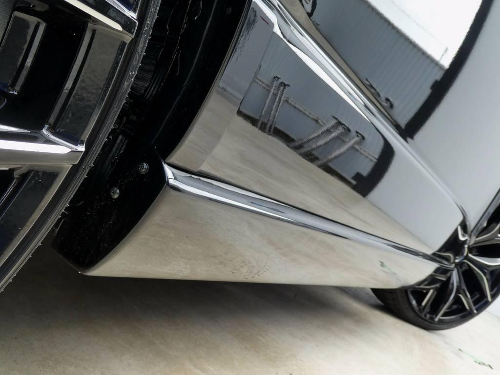 サイドスポイラーもレガンス製をセット!! | トヨタ ハイエース 2.7 GL ロング ミドルルーフ