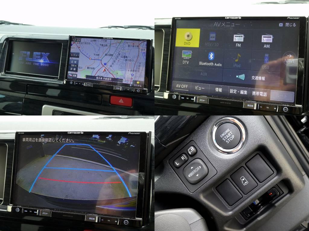 カロッツェリア8インチSDナビ サブモニター バックカメラ画像転送施工 スマートキー パワースライドドア ETC完備!! | トヨタ ハイエース 2.7 GL ロング ミドルルーフ