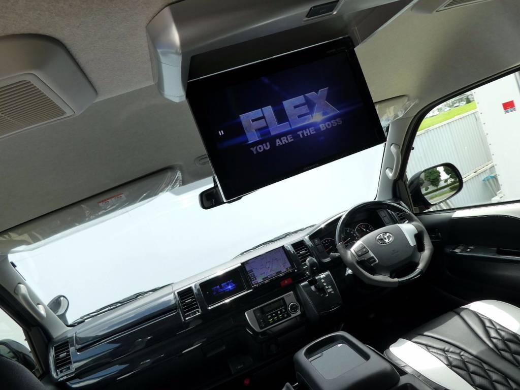 フリップダウンモニター配備で後席の方もお楽しみいただけます!! | トヨタ ハイエース 2.7 GL ロング ミドルルーフ