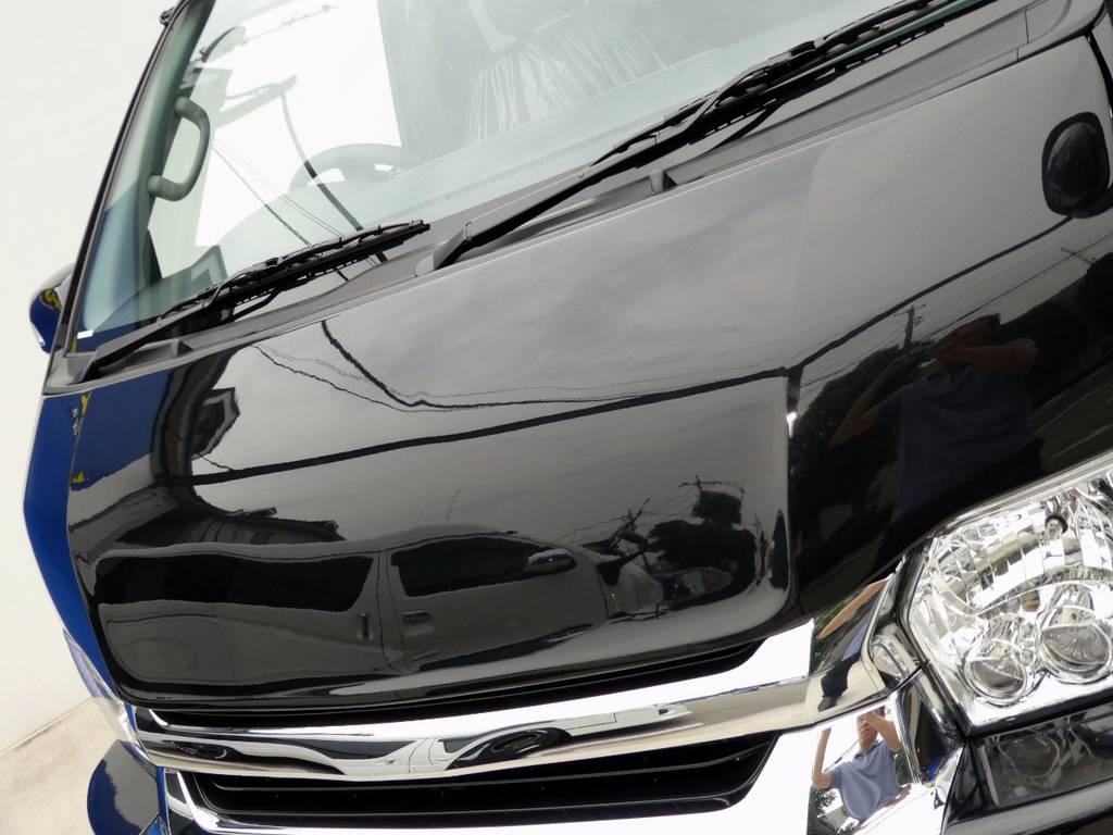 Delfino Lineボンネットをインストール!! | トヨタ ハイエース 2.7 GL ロング ミドルルーフ