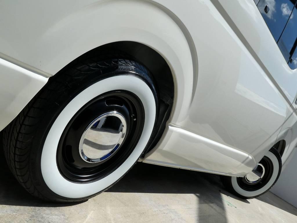 サイドラインを美しく彩るアルミフェイス!! | トヨタ ハイエース 2.7 GL ロング ミドルルーフ 4WD コーストライン