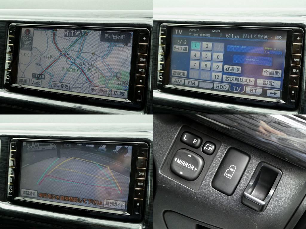 純正HDDナビ フルセグTV バックカメラ パワースライドドア完備!! | トヨタ ハイエース 2.7 GL ロング ミドルルーフ 4WD コーストライン