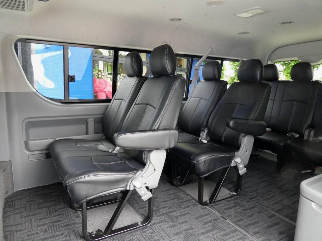 後席も当然!!専用シートカバー配備!! | トヨタ ハイエース 2.7 GL ロング ミドルルーフ 4WD コーストライン