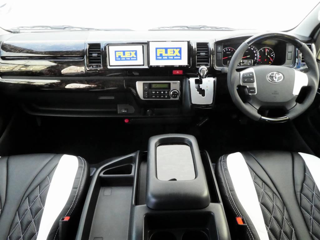 インテリアのカスタムも納得の1台となります! | トヨタ ハイエース 2.7 GL ロング ミドルルーフ 4WD ファインテックツアラー