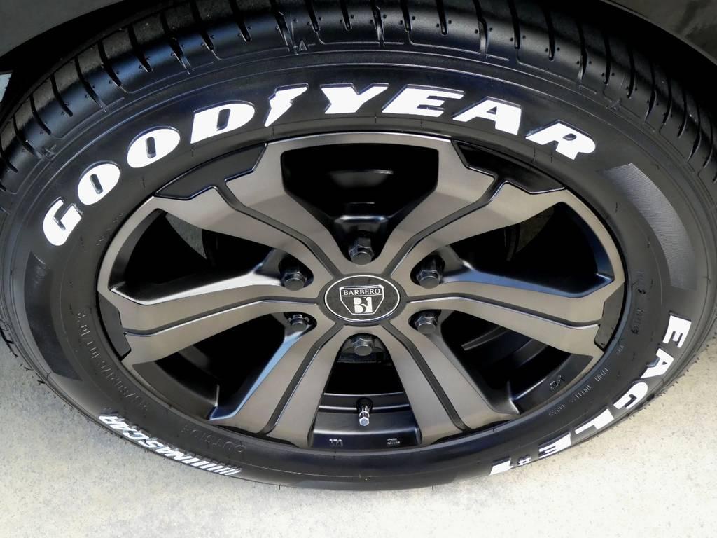 ナスカー ホワイトレタータイヤをインストール!! | トヨタ ハイエース 2.7 GL ロング ミドルルーフ 4WD ファインテックツアラー