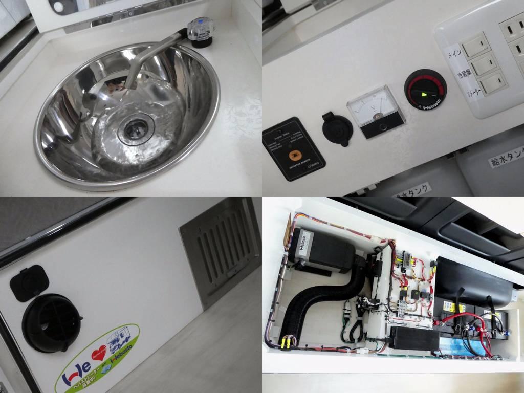 べバストFFヒーター サブバッテリー×2走行充電システム 15OOWインバーター配備!!   トヨタ ハイエース 2.7 GL ロング ミドルルーフ FFヒーター 1500W
