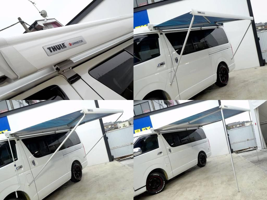 THULEオムニスターサイドオーニングを装備!!   トヨタ ハイエース 2.7 GL ロング ミドルルーフ FFヒーター 1500W